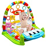 Adealink Kids Children Fitness Rack Baby Toys Piano Music Blanket Play Plastic Intellectual Development