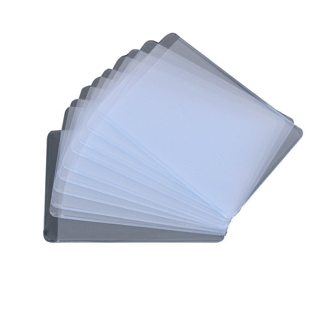 Weekendy Casa Creativa Porta Carte di Credito Tessere identificative Morbide Carte di plastica Trasparente, Porta Carte Trasparenti per Carte da Gioco