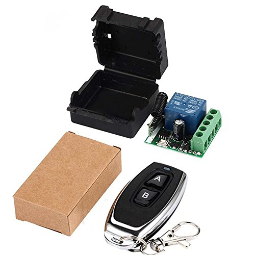 433Mhz Universal Wireless Remote Control Switch DC 12V 1CH relay Receiver Module RF Transmitter 433 Mhz Remote Controls (Transmitters 2 button+ 1 Receiver 1CH)