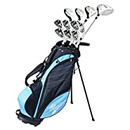 "Palm Springs Golf VISA LADY PETITE -1"" ALL GRAPHITE Hybrid Club Set & Stand Bag"