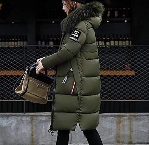 Impronta Kaffee Trapuntato Tasche Lungo Manica Ladies Caldo Giacca Inverno Saoye Imbottito Autunno Fashion Con Oversize Vestiti Coat Down Zipper Cappuccio HA6OAq