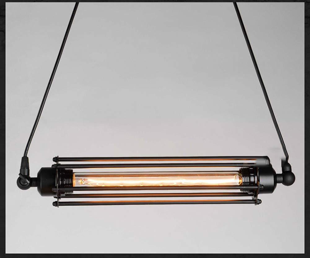 DECORATZ LED Retro Ceiling Light Shade,Industrial Style Vintage Pedant Light Fitting E27 Screw for Hallway Kitchen Restaurant Cafe Bar Fixture-black1048CM