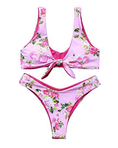 MOOSKINI Printed Bottom Bikini Swimsuit