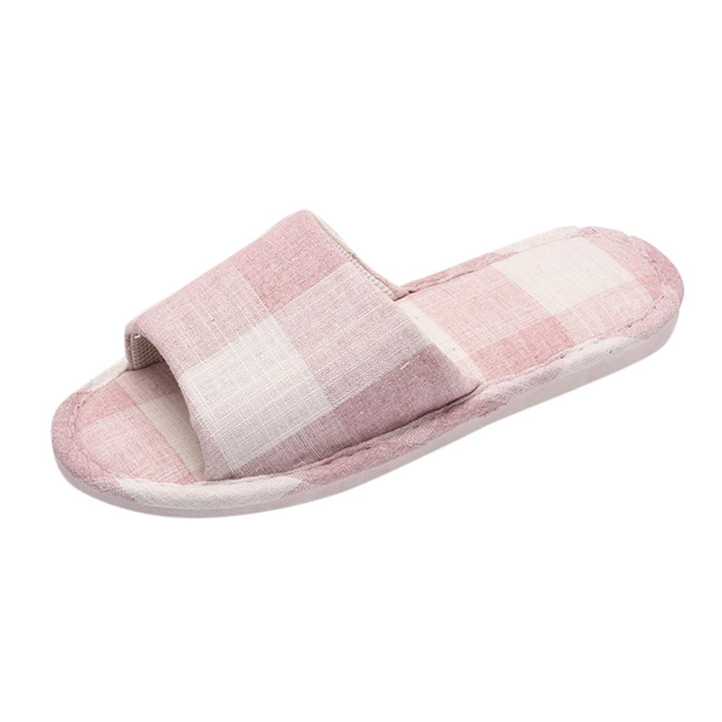 406a0345e0fd2 Amazon.com | RAINED-Women's Casual Anti-Slip Slippers, Cotton Linen ...