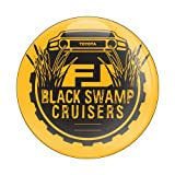 GoBadges CD0065 Yellow 'Club Black Swamp' Magnetic Grill Badge