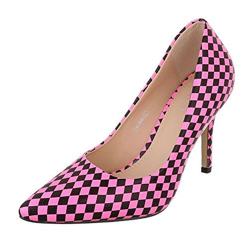 Pink Chaussures Compensées Design Schwarz Femme Ital qgIx85wqC
