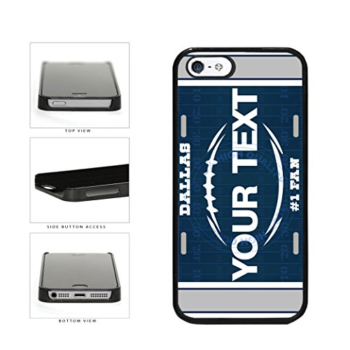 BleuReign(TM) Personalized Custom Name Football Dallas License Plate Plastic Phone Case Back Cover For Apple iPhone 5 5s and iPhone SE ()