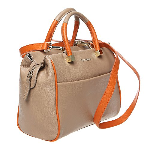 Trussardi Cm Correa Con Genuino Made Italy Ternero 76b264m Mujer Bolsa Big 27x21x13 In Boston Barro Mod Cuero De Hombro ZSxCqrZ