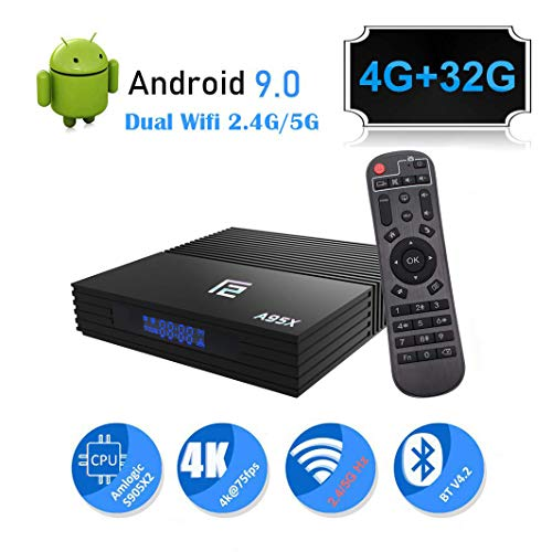 Android 9.0 TV Box A95X 4GB Ram 32GB ROM Smart 4K Android TV Box Amlogic S905 X2 CPU Support HDMI 2.1/H265 VP9 Video…