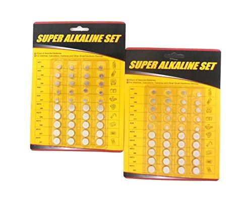 80 Piece Alkaline Button Battery Set by HnF