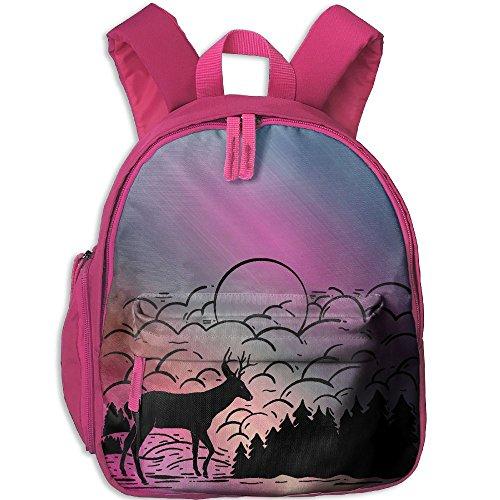Winter Forest Deer Kid's Shoulder Backpack School Bag School Backpack Backpack For Teens Boys Girls Students Wyoming Mule