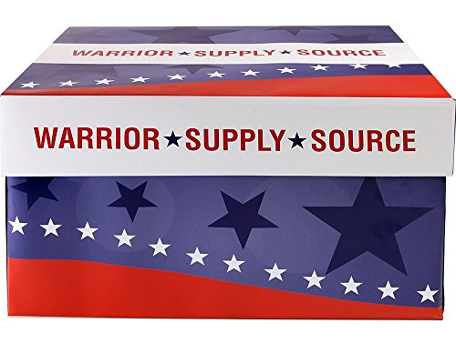 Warrior Supply Source Recycled Copy Paper 92 Bright 20LB 8-1/2 x 11 5000 Shts/CT by Warrior Supply Source