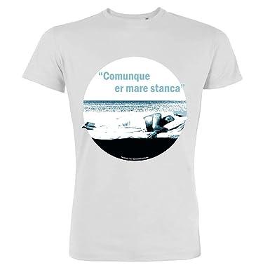 Pushertees T Shirt Uomo Bianca Osh 25 Le Piu Belle Frasi