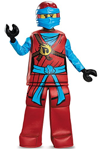 Disguise Nya Prestige Ninjago Lego Costume, Large/10-12