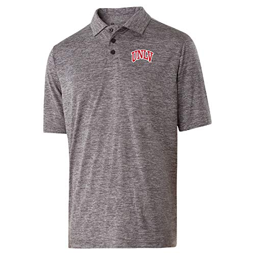 Ouray Sportswear NCAA UNLV Rebels Mens Electrify 2.0 PoloElectrify 2.0 Polo, Graphite Heather, L