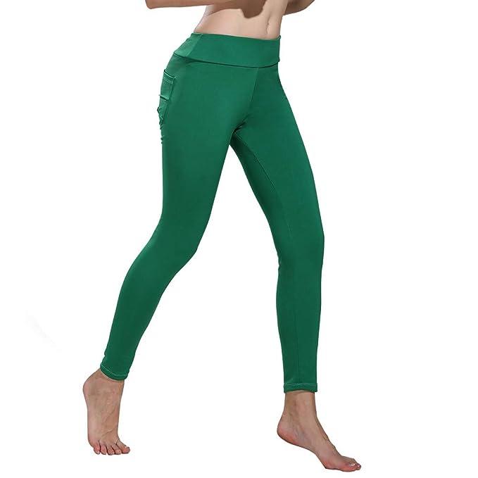 cbe3dd587d5e FRAUIT Print Leggings Damen Sport Gym Yoga Hosen Workout Fitness Lounge  Sporthose Pants Leggins Hoher Bund