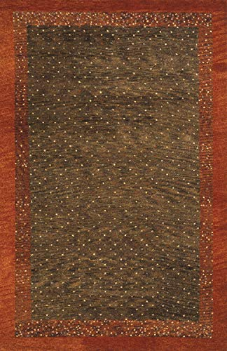 Momeni Rugs DEGABDG-01BRN2030 Desert Gabbeh Collection, 100% Wool Hand Knotted Contemporary Area Rug, 2' x 3', Brown