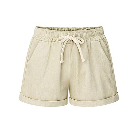 Amazon.com: YKARITIANNA Women Plus Size 2019 Pocket Bandage Solid Shorts, Summer Running Sports Wide Leg Causal Sexy Home Fitness Short Pants