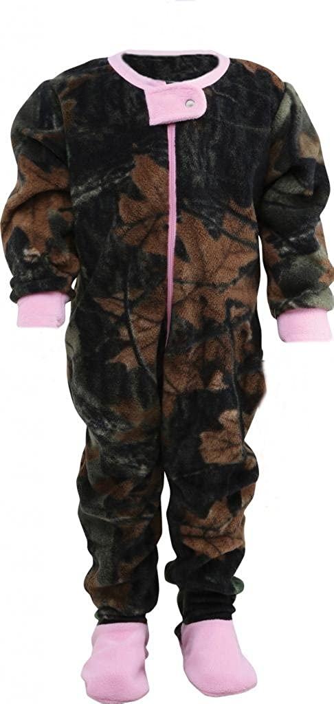 Infant Camo One Piece Footed Fleece Crawler