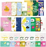FaceTory 23 Sheet Mask Collection for Hydrating, Moisturizing, Radiance, Soothing