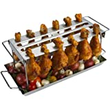 GrillPro 41552 Stainless Steel Grill Wing Rack