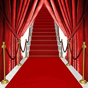 Amazon Com Gladsbuy Red Carpet Stairs 10 X 10 Computer