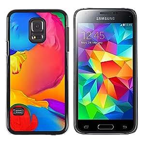 Stuss Case / Funda Carcasa protectora - Paint Colorful Blue Liquid Yellow Purple - Samsung Galaxy S5 Mini, SM-G800, NOT S5 REGULAR!