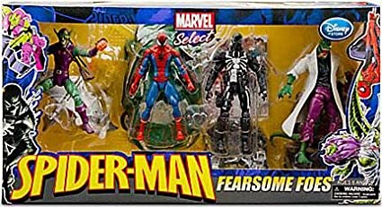 6ced9b2da9e9d Marvel Select EXCLUSIVE Action Figure 4-Pack Fearsome Foes [Spider-Man,  Lizard, Venom & Green Goblin]