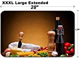 MSD Large Table Mat Non-Slip Natural Rubber Desk Pads IMAGE ID: 13968827 still life with italian food ingredients