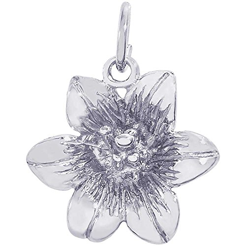 Rembrandt Charms Lily Charm, Sterling Silver