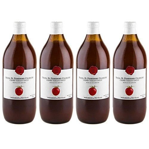 Frantoi Cutrera - Salsa Di Pomodoro Ciliegino - Cherry Tomato Sauce Flavored with Basil - 23.3oz (660g)