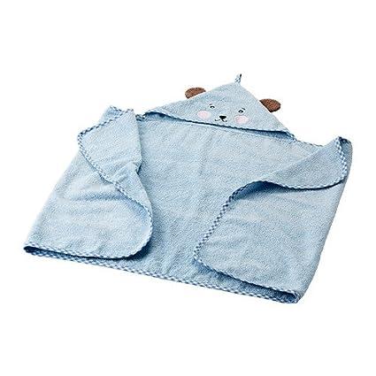 IKEA BADET - Toalla de bebé con capucha - 60x125 cm
