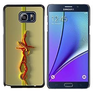 Stuss Case / Funda Carcasa protectora - Líneas abstractas - Samsung Galaxy Note 5 5th N9200