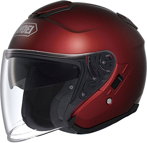 Shoei Unisex Adult J-Cruise Open Face Wine Red Helmet 0130-0111-05