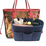 LEXSION Felt Handbag Organizer,Insert purse organizer Fits Speedy Neverfull Blue M
