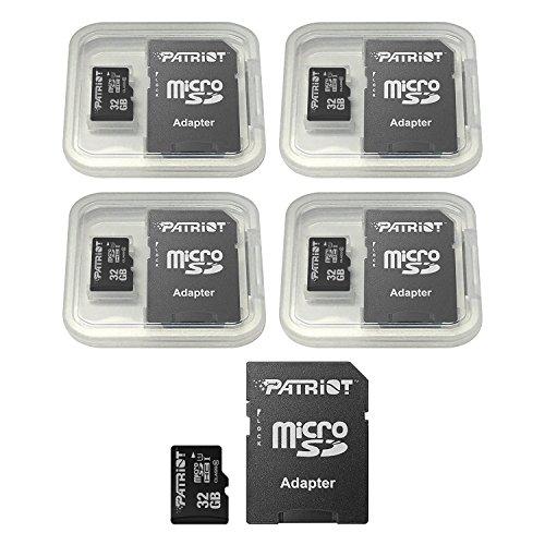 Patriot LX Series 32GB Micro SDHC - Class 10 UHS-I - 5 Pack (PSF32GMCSDHC5PK) by Patriot (Image #1)