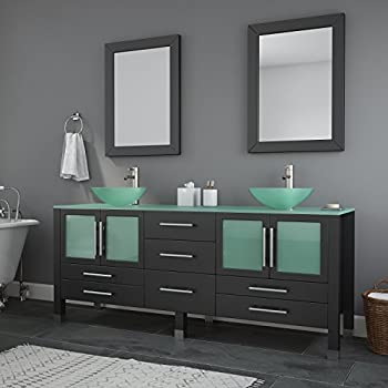 Virtu Usa Ava 71 Inch Double Sink Bathroom Vanity Set In