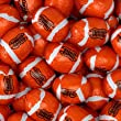 Footballs Solid Milk Chocolate - (1 Lb - 63 Pcs)