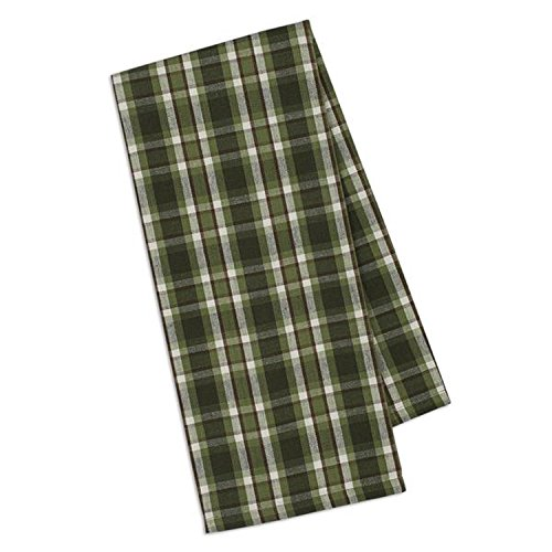 Plaid Dish Towel (Design Imports Mountain Pine Cotton Table Linens, Dishtowel 18-Inch by 28-Inch, Cascade Plaid)