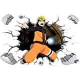 Fangeplus R DIY Removable 3D Hokage Uzumaki Naruto Japanese Animation Movie Art Mural Vinyl Waterproof Wall Stickers Kids Room Decor Nursery Decal Sticker Wallpaper23.6''x35.4''