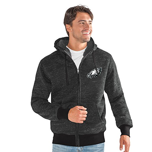 G-III Sports NFL Philadelphia Eagles Discovery Transitional Jacket, 4X, Black (G-iii Mens Jacket)