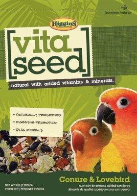 Higgins 466149 Vita Seed Conure-Lovebird 5Lb (1 Pack), One - Vita Rat