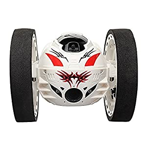 PowerLead Prob B001 2.4G RC Control Jump Car WIFI Jumping Sumo Bounce Car with 2MP HD Camera-Updated Version(white)