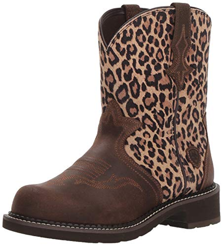 Ariat Women's FATBABY HERITAGE TRIO Boot, java/leopard suede, 9 B - Leopard Tall Boot