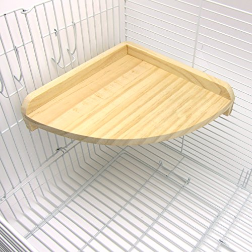 Image of Alfie Pet by Petoga Couture - Nick Wood Corner Platform for Mouse, Chinchilla, Rat, Gerbil and Dwarf Hamster