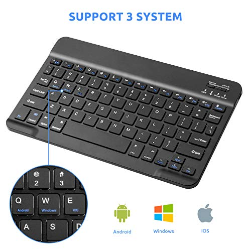 Samsung Galaxy Tab S7 Wireless Keyboard,Universal Slim Portable Bluetooth Keyboard Compatible with Samsung Galaxy Tab S7 Keyboard with Built in Rechargeable Battery,Black