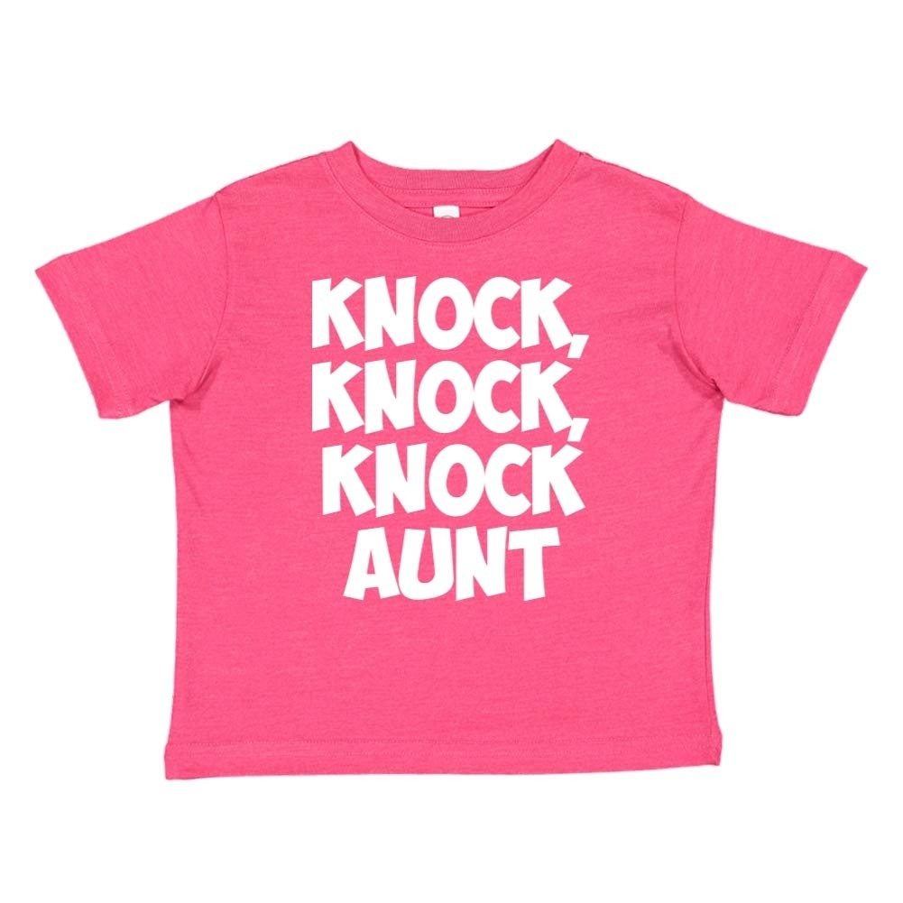Knock Toddler//Kids Short Sleeve T-Shirt Knock Aunt Knock