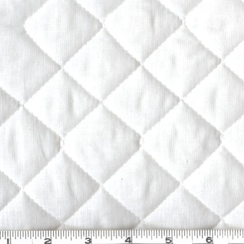 Double-Sided Quilted Broadcloth White Fabric By The - Yard The By Pre-quilted Fabric