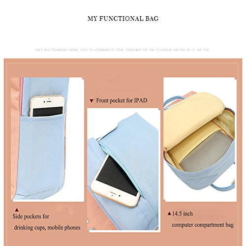 Style Preppy Nylon Rucksack School Fashion Women Bag Backpack Bluegray Casual Shoulder Waterproof Bag qw80w1t