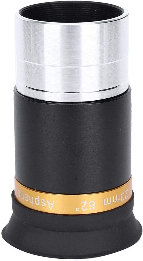Metal and Optical Glass Telescope Aspheric Eyepiece Full Coated High Definition Wide Angle 62 Degree Lens for 1.25 Inch Astronomy Telescope